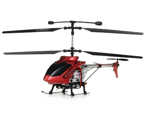 Hobby GS350 27MHz Alloy RC Helicopter with Electronic Speed Control, 3D Gyroscope (Red)