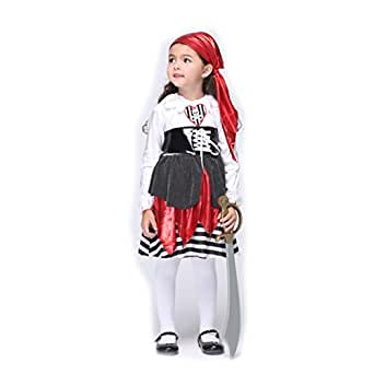 B-JOY Toddler Girls High Seas Buccaneer Pirate Costume Role Play Cosplay Dress