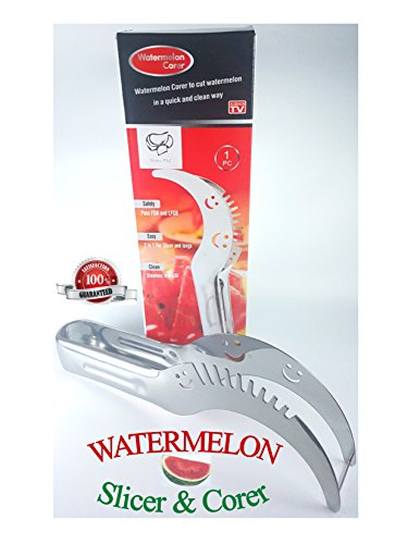Divine Chef Watermelon Slicer & Corer   As Seen On TV Melon Slicer   Perfect kitchen tool for family outings and picnics   Cut Watermelons fast without the juicy mess! (As Seen On Tv Cooking Products compare prices)