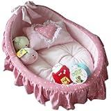 Princess Cradle Pet Bed + Removable Pet Mat + Cute Pillow (Princess Pink)
