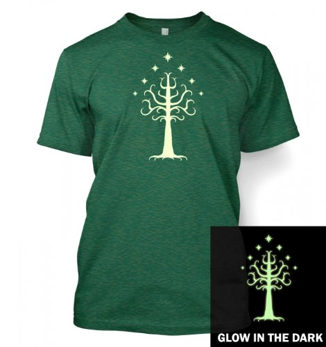 Glowing Tree Of Gondor T Shirt Medium Antique Jade Dome