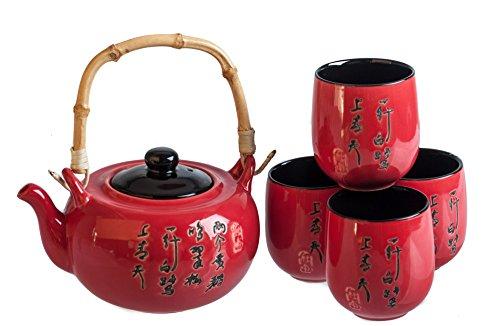 M.V. Trading MVTS-RD01 Porcelain Tea Set, 24-Ounce, Red Reviews