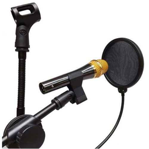Microphone Mic Wind Screen Pop Filter Mask Shield For Studio Recording Singing