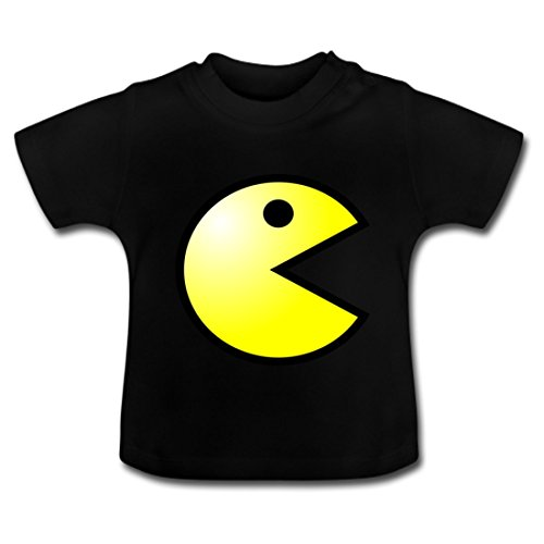LARger pac-man Baby Classic T-Shirt 4T Black