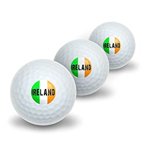 Ireland Irish Flag Novelty Golf Balls 3 Pack by Graphics and More