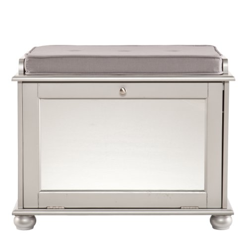 Silver Mirrored Furniture front-1080980