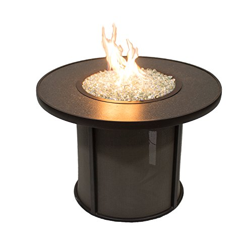 Outdoor Greatroom Stonefire 32 in. Round Fire Pit Table (Propane Tanks 10 Pound compare prices)