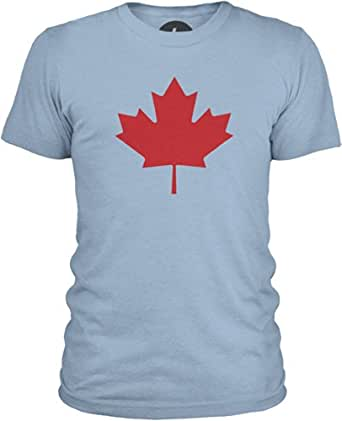 Big Texas Canada - Oversized Maple Leaf (Red) T-shirt - Col ras du cou - Manches courtes - Homme, Azure, S