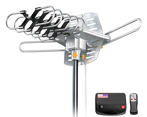 Vilso TV Antenna Outdoor Amplified, Motorized 360 Degree Rotation, Digital HDTV Antenna, 150 Miles Range, Wireless Remote (Digital Tv Antenna Outdoor compare prices)