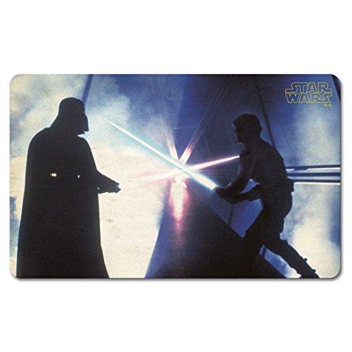 Original Star Wars Guerra delle stelle-Tagliere per colazione tagliere tagliere Fan articolo Vader vs Luke luce spada BATTLE