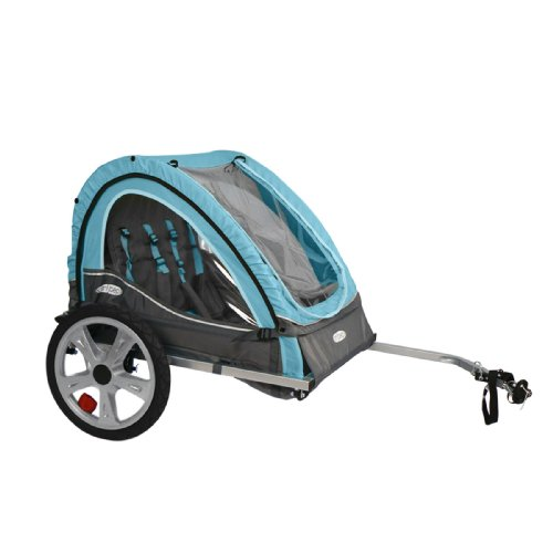 Pacific Cycle InStep Take 2 Double Bicycle Trailer,Light Blue/Gray (Cycle For Baby compare prices)