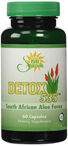 DETOX 535 | South African Cape Aloe Ferox Cleanse |Constipation Pills | Promotes Weight Loss|Most Effective Natural Laxative on the Market |535mg Capsules