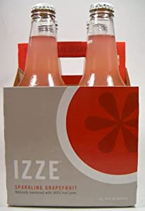 Izze Sparkling Grapefruit Soda 4pk 12 Ounce Bottles