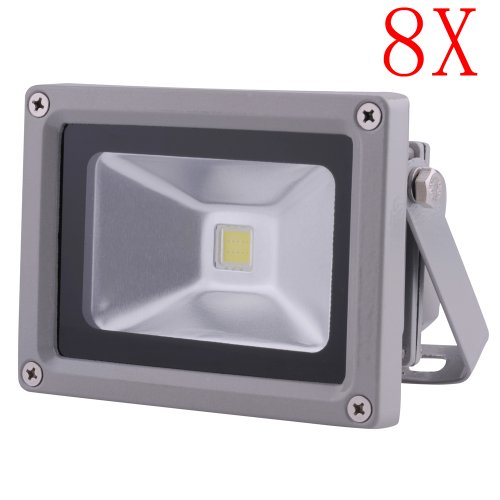 8 Pcs 10W Cool White Led Wall Pack Wash Flood Light Spotlight Outdoor 90V - 240V Ac High Quality Chip