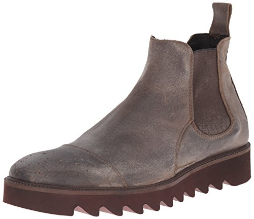 Donald J Pliner Men's Shale Chelsea Boot, Stone/Expresso Distressed Sport Suede, 9.5 M US (Expresso Tabs compare prices)