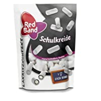 RED BAND Schulkreide - School Chalk - Schul-Kreide - Skolekridt White Sugar Licorice Bag 175gram 6.1 Oz