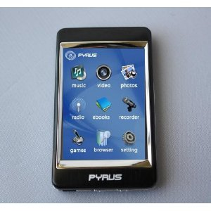 Pyrus Electronics 4gb Mp3/mp4/mp5 Player with 2.8 Inch Touch Screen and All Stainless Steel Casing - Black