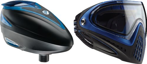 Dye Paintball Rotor Loader And I4 Goggle Combo - Blue / Blue