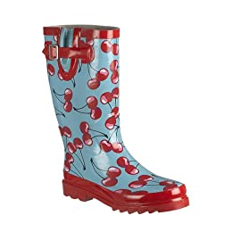 Cherry-Print Rain Boots - Red/ Blue : Target