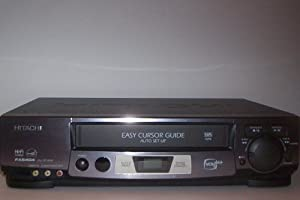Hitachi VCR Recorder FX6404, Hi-Fi Stereo With Multi Function Window