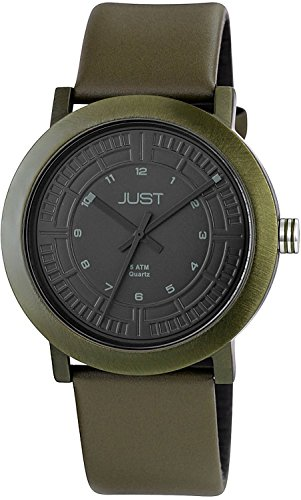 Just Watches 48-S9627-DGR - Orologio da polso uomo, pelle, colore: verde
