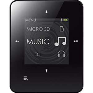 Creative Zen Style M300 4GB MP3 Player with MicroSD Slot, Voice Recorder, FM Radio, Bluetooth, BLACK/WHITE