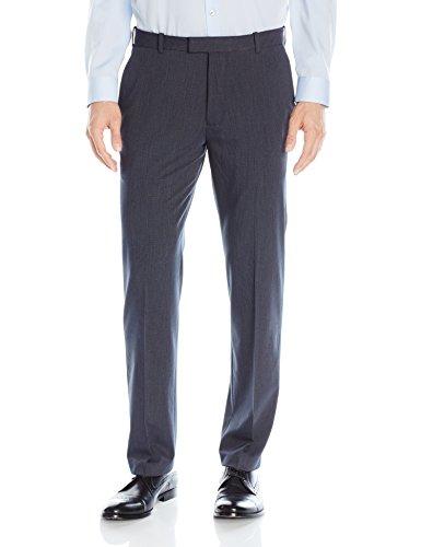 Van Heusen Men's Flex Straight Fit Flat Front Pant, Ash Navy, 33W x 32L (Van Heusen Dress Pants compare prices)
