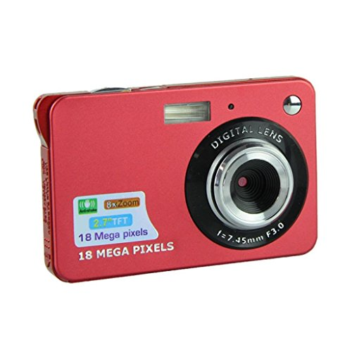 Digital Camera, Amlaiworld 18 Mega Pixels CMOS 2.7 inch TFT LCD Screen HD 720P Digital Camera (Red)