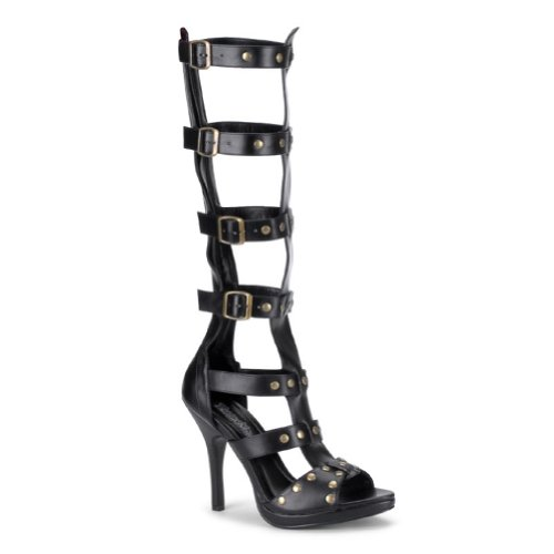 4 1/2 Inch Heel Gladiator Sandals Theatre Costumes Accessory Open Toe Poly Sexy Boots