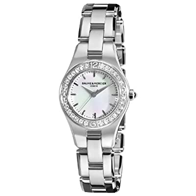 Baume & Mercier Women's 10013 Linea Mother-of-Pearl Dial Diamond Bezel Watch