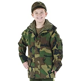 Kids Camouflage Wet Weather Parka or Rain Coat