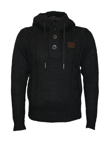 New Mens VOI Jeans Wandering Designer Knitted Hooded Jumper Top