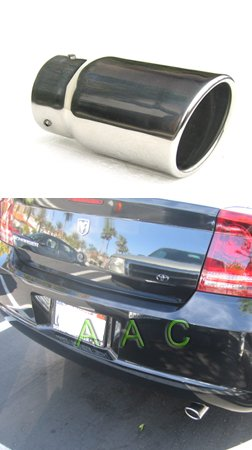 Stainless Steel Exhaust Tip W/ Mirror Polish Finish - Dodge Charger 05-07 V6 Engine (Will Not Fit Se/Sxt/Rt /Srt)
