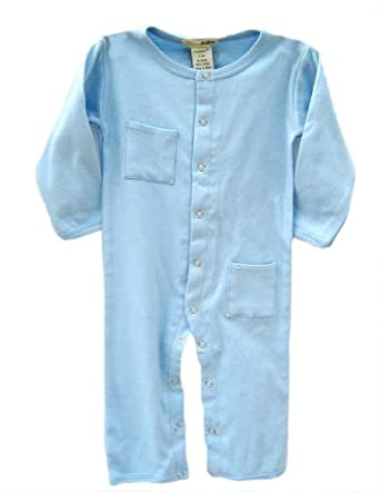 L'ovedbaby Long-Sleeve Overall, Blue, 6-9 Months