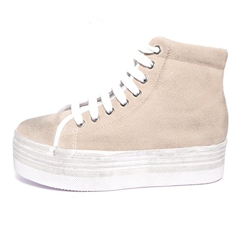JEFFREY CAMPBELL - .HOMG SUEDE WASH - WHITE W, 37