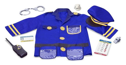 Melissa & Doug Police Officer Costume Deluxe Role Play Set