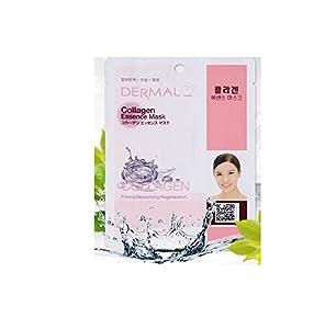 Dermal Korea Collagen Essence Full Face Facial Mask Sheet - Collagen (10 Pack)