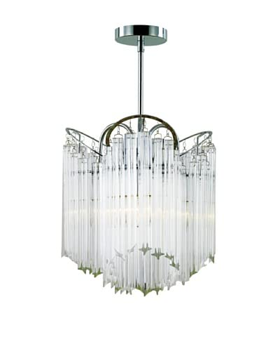 Transglobe Lighting 3-Light Tapered Veil Chandelier