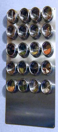 "Spice Tin Wall Base, Stainless 12"" X 24"" for Magnetic Spice Tins"