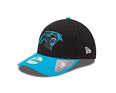 NFL Carolina Panthers Super Bowl 50 The League Side Patch 9FORTY Adjustable Cap, Black/Teal, One Size