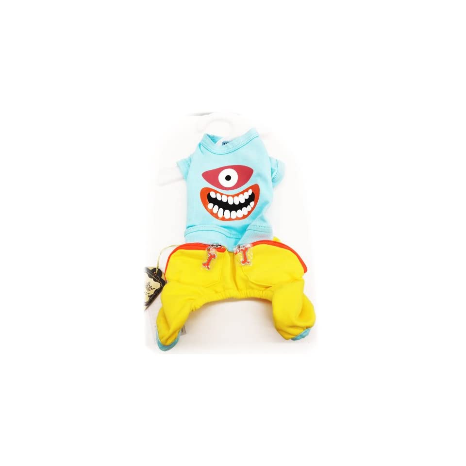 Pet Dog Clothing Cute One Piece Monster Style Shirt and Jean. Many Sizes Available