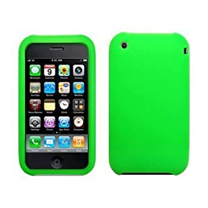 Green Silicone Case / Skin / Cover for Apple iPhone 3G 3Gs