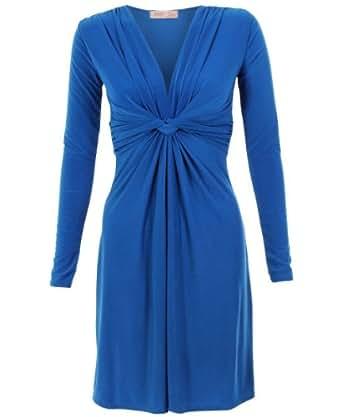 Robe Drapée 9878 [Bleu roi,36]