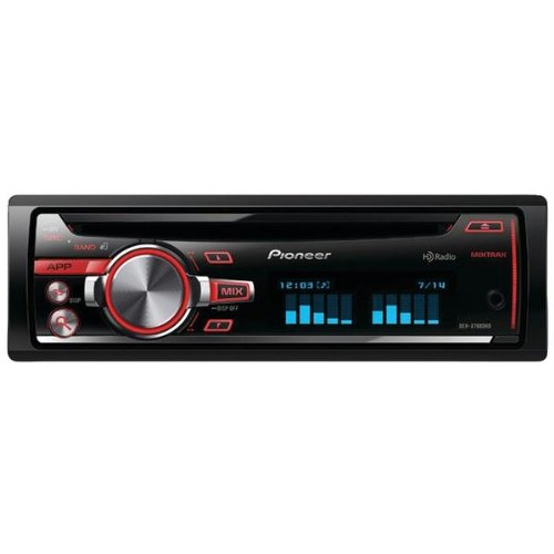 Pioneer DEHX7600HD In Dash CD Receiver with Mixtrax and HD Radio Tuner