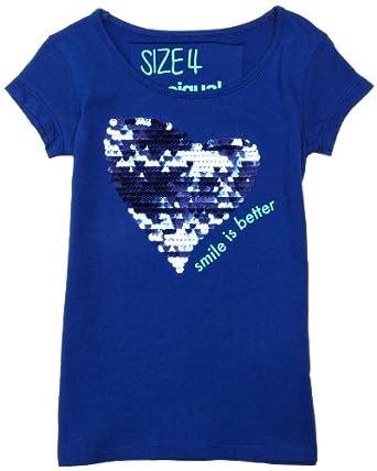 desigual heart sequins tee 13 14 fashion t shirts clothing. Black Bedroom Furniture Sets. Home Design Ideas