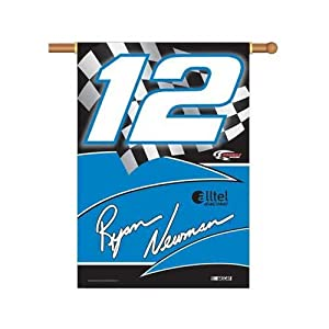 NASCAR Ryan Newman #12 2-Sided 28-by-40-Inch Banner with Pole Sleeve by BSI