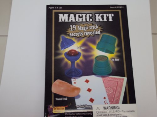 Forum Novelties 62401 Deluxe Magic Kit - 19 Magic Trick Secrets Revealed - 1
