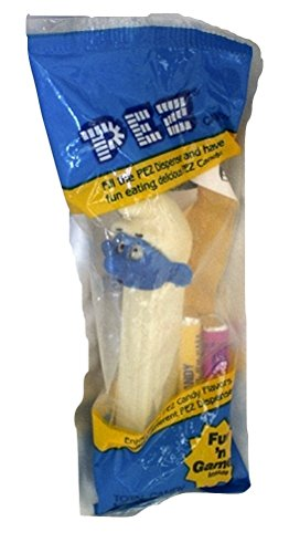 Smurf Pez Dispenser Smurf with white stem Factory Sealed (Pez Dispensers Smurfs compare prices)