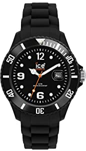 Ice Watch - SI.BK.B.S.09 - Montre Homme - Quartz Analogique - Cadran Noir - Bracelet Silicone Noir - Grand Modèle de Ice Watch