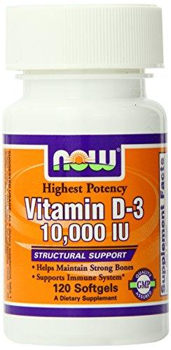 Now Foods Vitamin D-3 10,000 IU 120 Soft Gels (Vitamin D 10000 Iu compare prices)